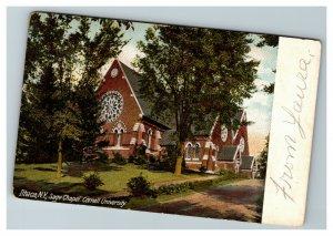 Vintage View Sage Chapel, Cornell University, Ithaca NY c1908 RPO Postcard L24