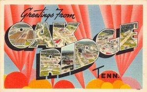 LPS54 OAK RIDGE TENNESSEE LARGE BIG Letter Postcard