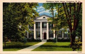 West Virginia Clarksburg Public Library Curteich