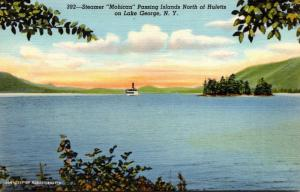 New York Lake George Steamer Mohican Passing Islands North Of Hul...