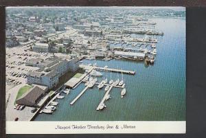 Treadway Inn Marina Newport RI Postcard BIN