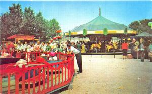 Michigan City IN Kiddieland Washington Park Carousel Rides Postcard