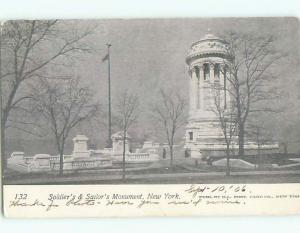 Pre-1907 very early view - SOLDIERS MONUMENT New York City NY n6258