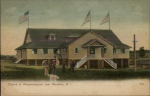 Casino at Wequetequock Near Westerly RI c1910 Postcard