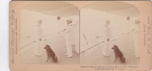 SV: Admiral Dewey & his Chinese Dog on the OLYMPIA, Philippines , 1899