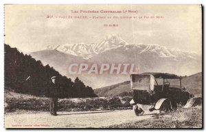 Old Postcard Valley of Aure Plateau Aspin and Col of the Pic du Midi Automotive