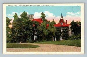 Tarrytown NY Washington Irving House Sunny Side, Vintage New York c1920 Postcard