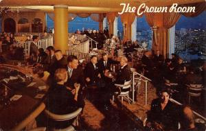 California~The Crown Room~1960 Postcard