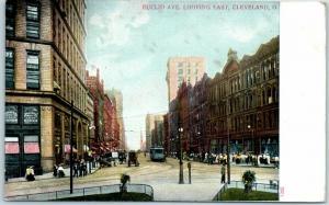 Cleveland, Ohio Postcard EUCLID AVENUE Looking East c1900s Unused