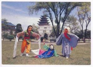 Mask Dancers, Seoul, South- Korea, 60-70s