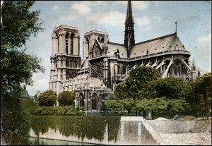 Notre Dame Church Paris France  Postcard