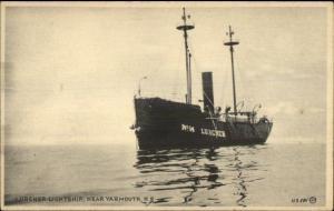 Lurcher Lightship Light Ship Light House Near Yarmouth NS c1910 Postcard