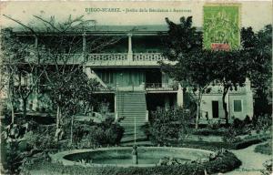 CPA Diego Suarez- Jardin de la Residence a Antsirane MADAGASCAR (819981)