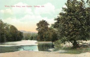 c1910 Chromograph Postcard; White River Valley Ferry, Eureka Springs AR Carroll