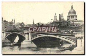 Old Postcard Blackfriare Bridge St Paul s London
