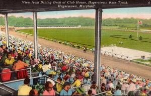 Maryland Hagerstown Race Track View From Dining Deck Of Club House