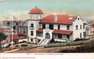 Bard Hospital, Ventura, California, Early Postcard, Unused
