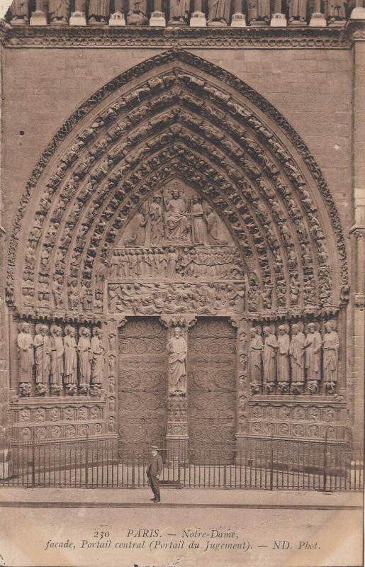 NOTRE-DAME , Paris, France, 00-10s ; facade, Portail central