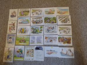 bu0065 25 Cartes postales par bande-dessinée artiste Rupert Besley Toutes montré