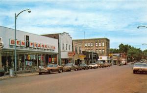 Iron River Michigan~Main Street~Downtown Shopping~Ben Franklin~Cars~1950s Pc