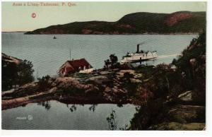 Anse a L'eau-Tadousac , Quebec , Canada , 00-10s Steamship