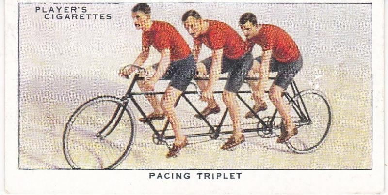Cigarette Cards Players CYCLING No 23 Pacing Triplet