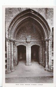 Northamptonshire Postcard - West Door - Higham Ferrers Church    DP336
