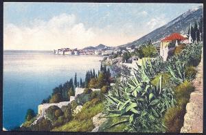 Coastal Town View Dubrovnik Croatia Unused c1910s
