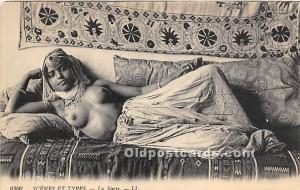 Arab Nude Postcard La Sieste Unused