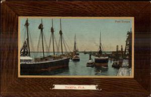Tampa FL Port Tampa Ships in Harbor c1910 Postcard