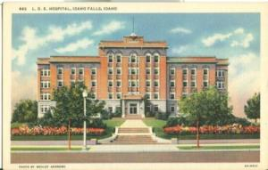 LDS Hospital, Idaho Falls, Idaho, unused linen Postcard