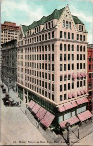 1900-10 Postcard Cherry Street as Seen from First Ave Seattle, Washington