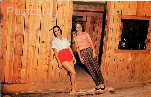 NM, Ruidoso Downs, New Mexico, The Mystery Spot, About to Enter Cabin, Dexter...