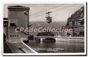 Old Postcard Grenoble Isere The Teleferique Train Station Depart