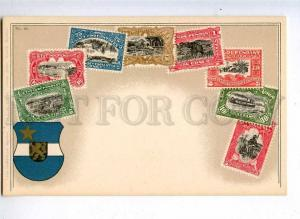 231976 CONGO Coat of arms STAMPS Vintage Zieher postcard