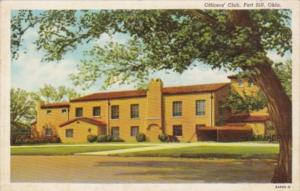 Oklahoma Fort Sill Officers' Club Curteich