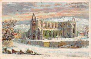 Wales Tintern Abbey S.W. (Snow Scene) Monmouthshire 1910