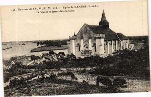 CPA SAUMUR-Église de CANDES-La Vienne se jetant dans la Loire (189904)