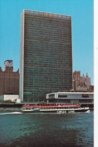 Circle Line Yacht , East River at United Nations Bldg , New York City , 50-60s