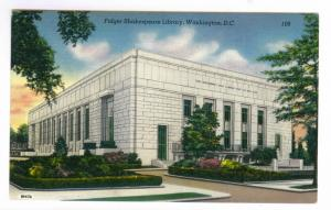 Folger Shakespeare Library, Washington, D.C. unused linen PPC