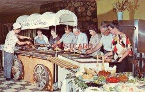 guests dig-in at SMORGASBORD AT AUSABLE RANCH & SKI CLUB, GAYLORD, MICHIGAN