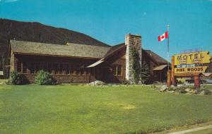 Lawn and Exterior View of Pine Woods Lodge, Hope-Princeton Highway, Manning P...