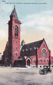 COLORADO SPRINGS , Colorado, 1900-10s ; First Baptist Church
