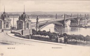 MAINZ, Rhineland-Palatinate, Germany, 1900-1910's; Strassenbrucke