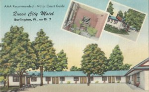 BURLINGTON , Vermont , 1930-40s , Queen City Motel