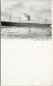 'Minnehaha' Ship Steamship Unused Photo Electrotype Postcard F64