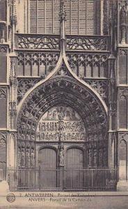 ANTWERPEN, Portaal der Kashedraal, ANVERS Portail de la Cathdrale, Belgium, 0...