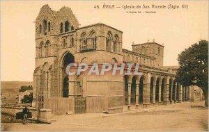 Old Postcard Avila Iglesia de San Vicente