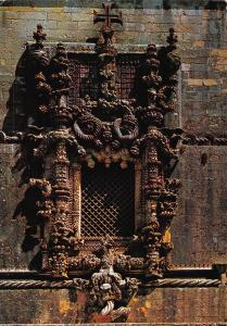 Portugal Tomar Chist Convent Window Janela do Convento Postcard
