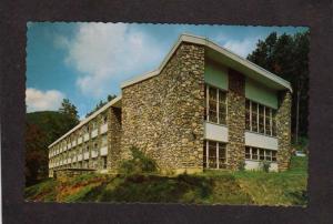 NC Men's Dorm Hall Montreat Anderson College North Carolina Postcard